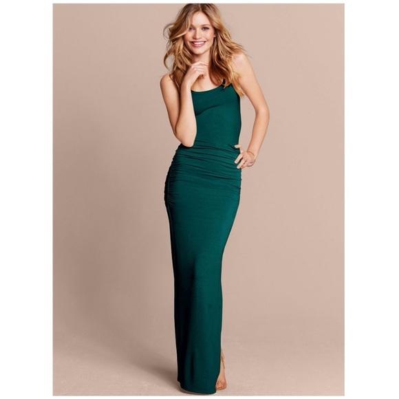 Victoria's Secret Ruched Tank Maxi Dress